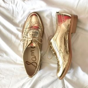 Sam Edelman Jerome Gold Oxfords